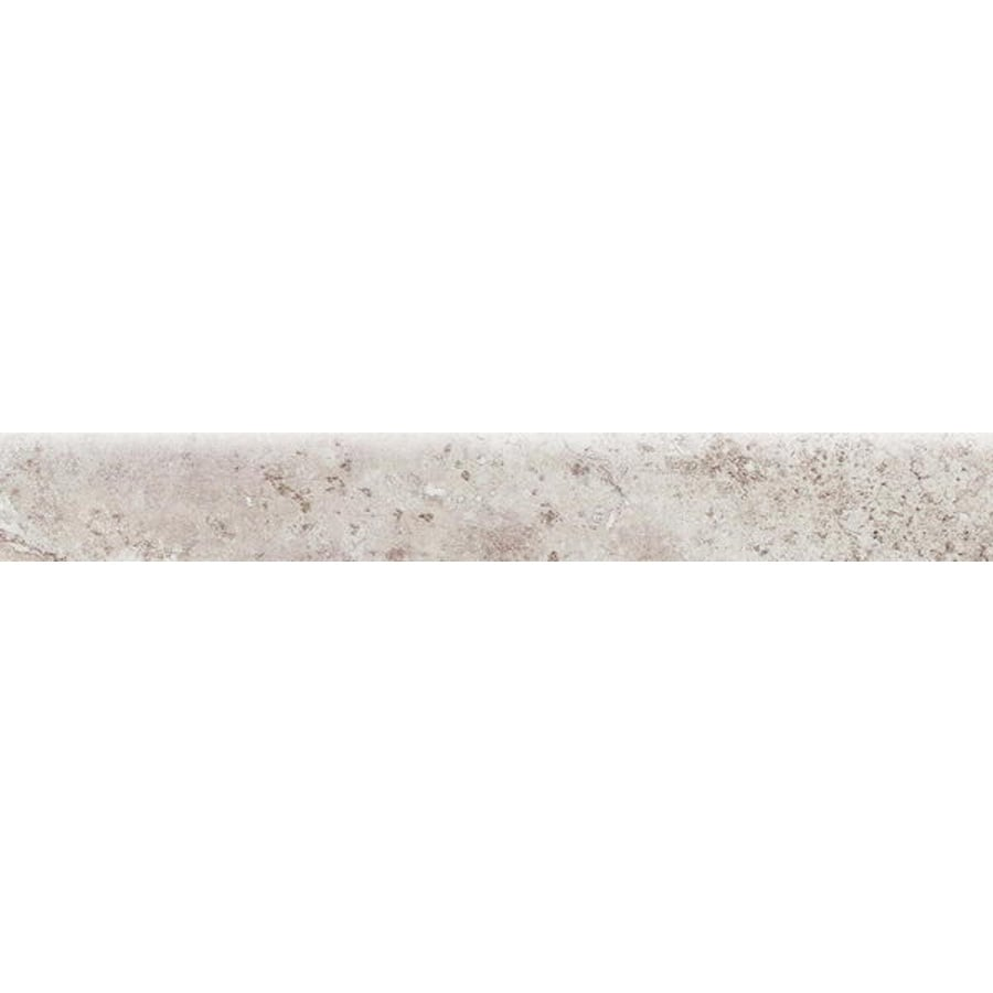Bedrosians Illusions Silver Porcelain Bullnose Tile (Common: 3-in x 20-in; Actual: 2.75-in x 19.75-in)