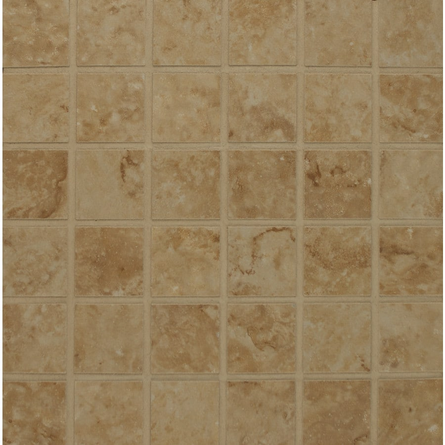 Bedrosians Illusions Novana Glazed Porcelain Mosaic Square Indoor/Outdoor Floor Tile (Common: 13-in x 13-in; Actual: 12.875-in x 12.875-in)