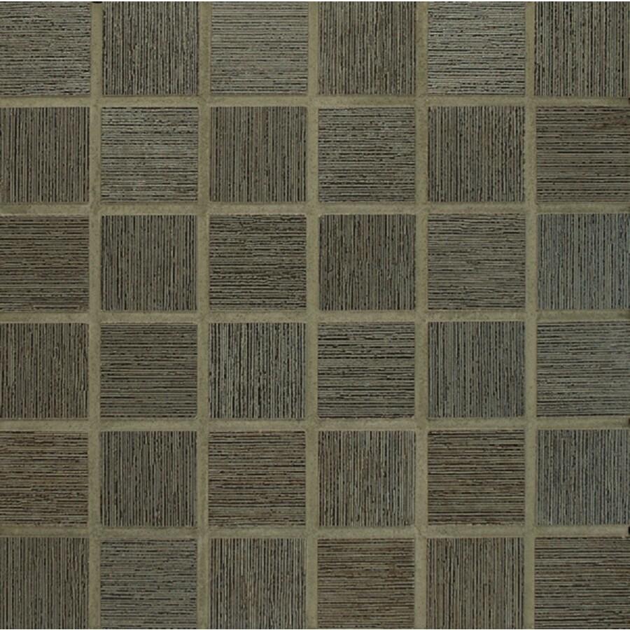 Bedrosians Silk Road Iron Uniform Squares Mosaic Porcelain Floor Tile (Common: 13-in x 13-in; Actual: 12.875-in x 12.875-in)