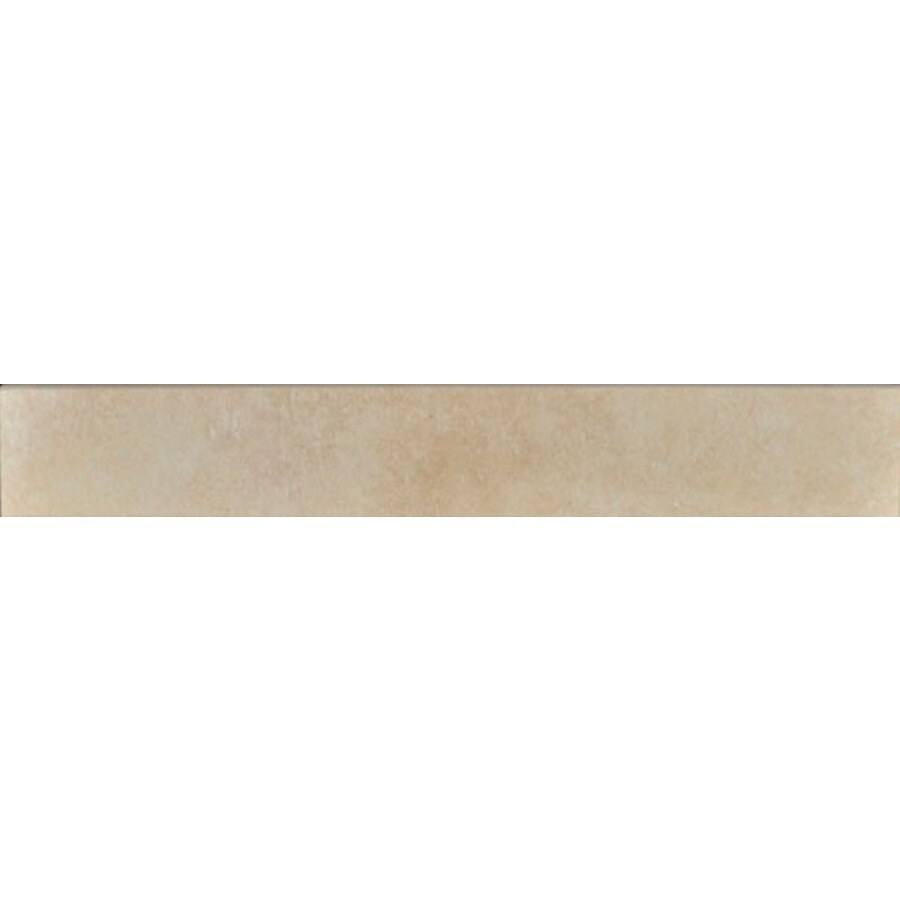 Bedrosians Eddie Almond Porcelain Bullnose Tile (Common: 3-in x 20-in; Actual: 2.75-in x 19.75-in)