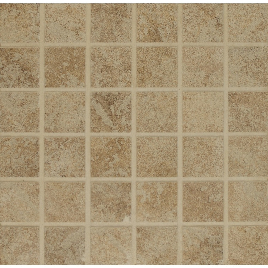 Bedrosians Eddie Beige Uniform Squares Mosaic Porcelain Floor Tile (Common: 13-in x 13-in; Actual: 12.875-in x 12.875-in)