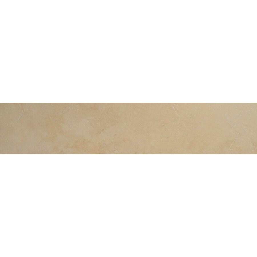 Bedrosians Verona Almond Porcelain Bullnose Tile (Common: 3-in x 20-in; Actual: 2.75-in x 19.75-in)