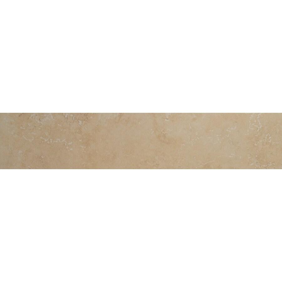 Bedrosians Verona Beige Porcelain Bullnose Tile (Common: 3-in x 20-in; Actual: 2.75-in x 19.75-in)