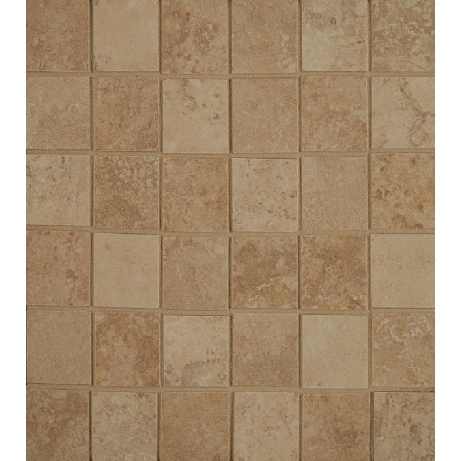 Bedrosians Verona Almond/Beige Uniform Squares Mosaic Porcelain Floor Tile (Common: 13-in x 13-in; Actual: 12.875-in x 12.875-in)
