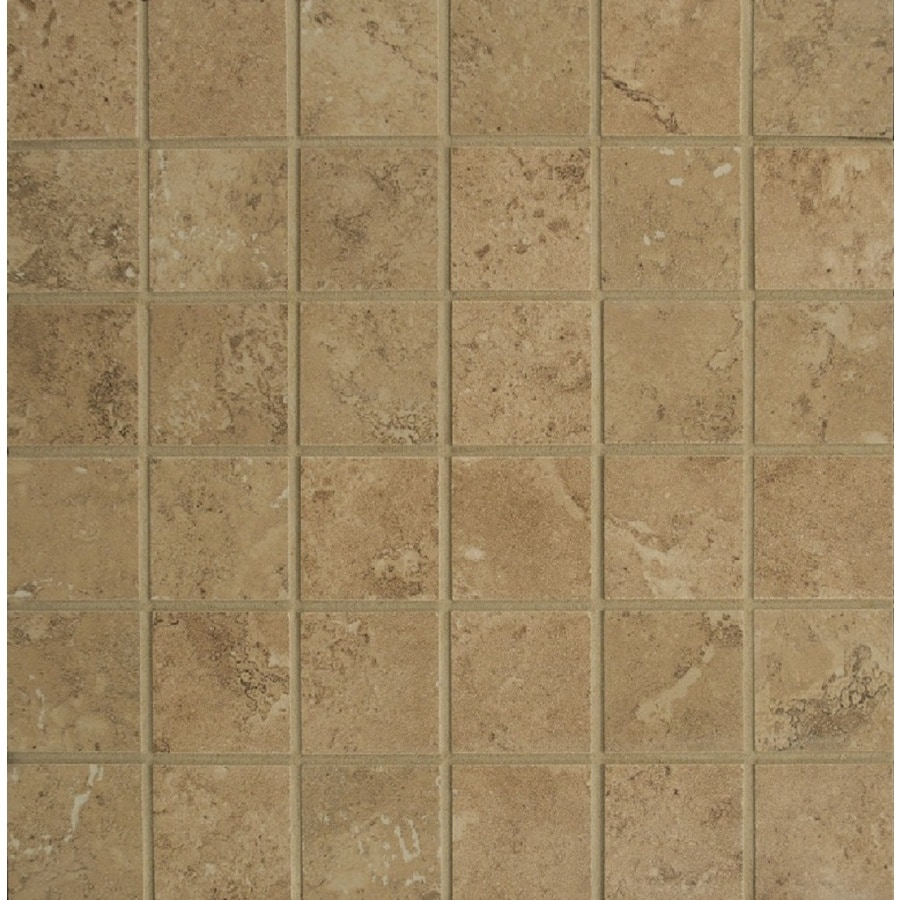 Bedrosians Verona Taupe Uniform Squares Mosaic Porcelain Floor Tile (Common: 13-in x 13-in; Actual: 12.875-in x 12.875-in)