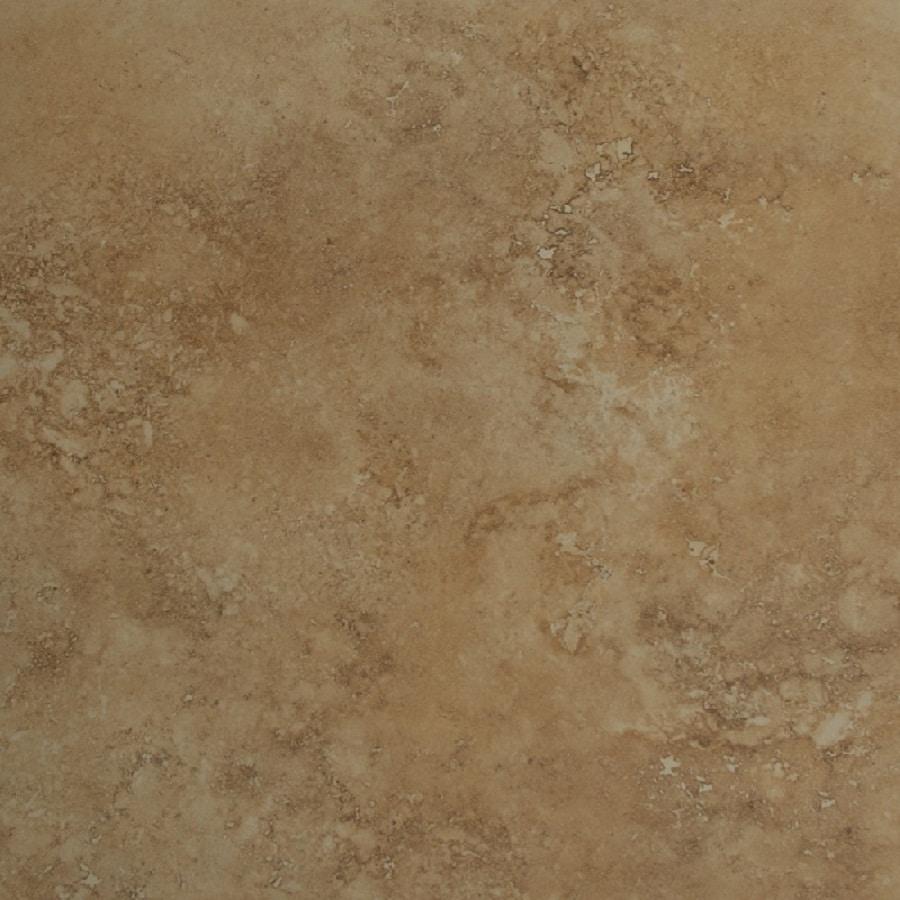 Bedrosians Roma 4-Pack Camel Porcelain Floor Tile (Common: 24-in x 24-in; Actual: 23.625-in x 23.625-in)