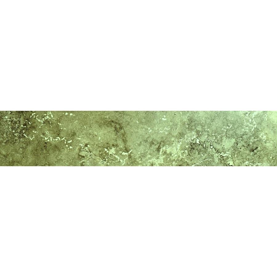 Bedrosians Verona Olive Porcelain Bullnose Tile (Common: 3-in x 20-in; Actual: 3-in x 20-in)