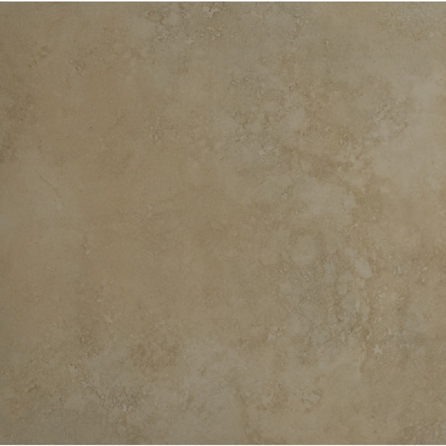 Bedrosians Roma Terra 6-Pack Almond Porcelain Floor Tile (Common: 20-in x 20-in; Actual: 19.68-in x 19.68-in)
