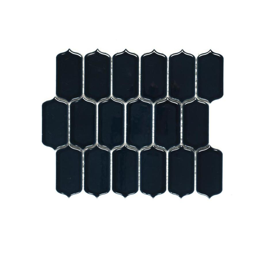 97819bdc9572 Bedrosians Isabella Dk Blue 10-in x 12-in Ceramic Lantern Mosaic ...