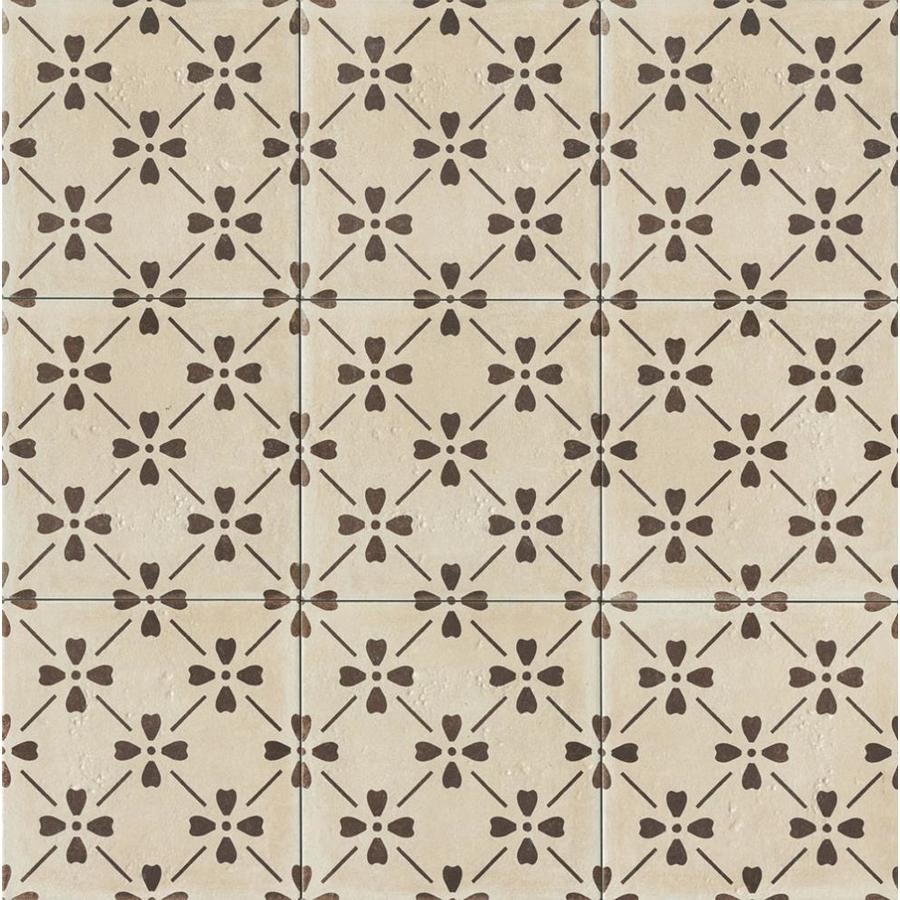 Bedrosians Palazzo 10 Pack Antique Cotto 12 In X Porcelain Encaustic Floor And Wall Tile Common Actual 11 88