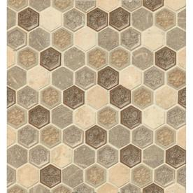 Bedrosians Kismet Delight Honeycomb Mosaic Ceramic And Travertine Limestone Wall Tile Common 12