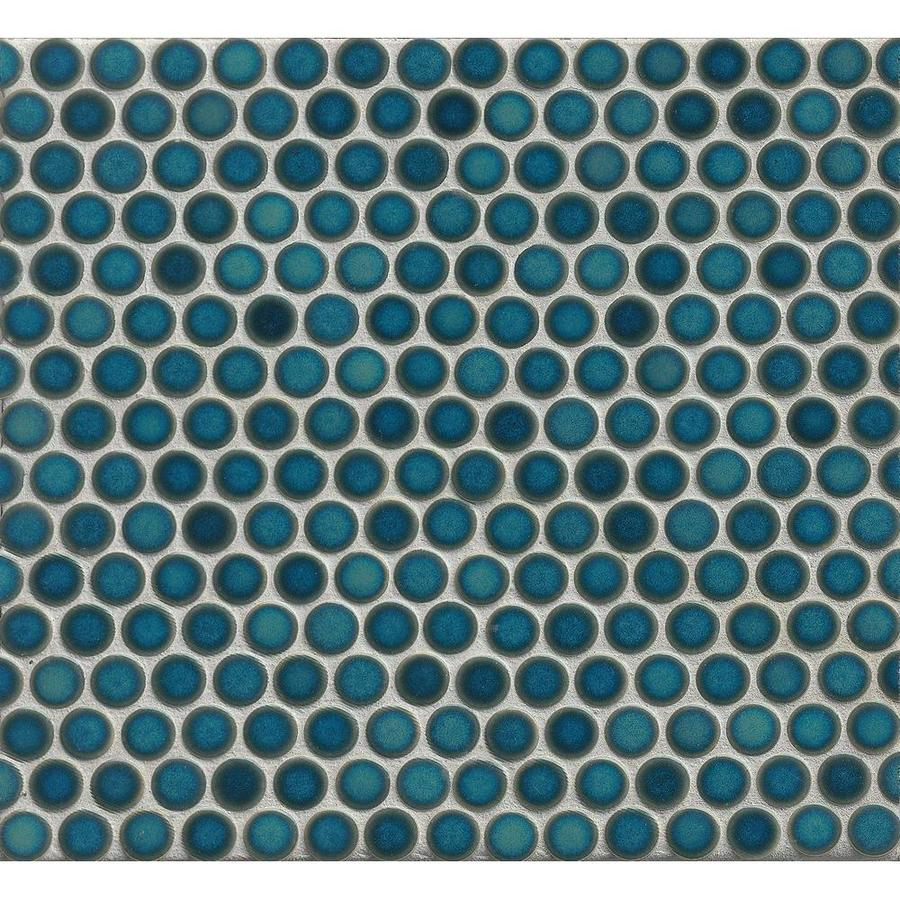 Shop Bedrosians 360 Lagoon Penny Round Mosaic Floor And Wall Tile ...