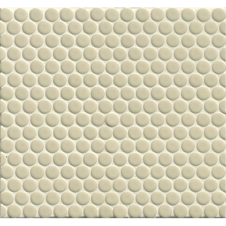 Shop bedrosians 360 off white penny round mosaic porcelain floor and bedrosians 360 off white penny round mosaic porcelain floor and wall tile common 12 dailygadgetfo Gallery