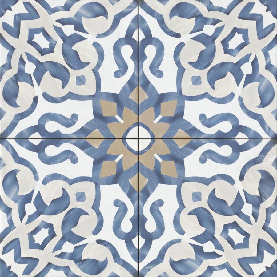 Bedrosians Villa Azul 20 Pack Blue 10 In X 10 In Porcelain