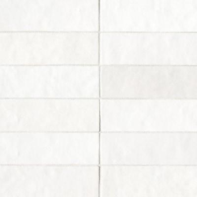Cloe 76 Pack White 2 1 In X 8 Ceramic Subway Deco Wall Tile Common Actual 7 87 55