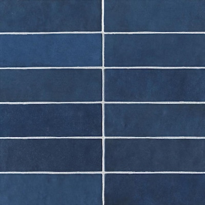 Bedrosians Cloe 76-Pack Blue 2-1/2-in x 8-in Ceramic Wall Tile (Common: 2-1/2-in x 8-in; Actual: 7.87-in x 2.55-in)