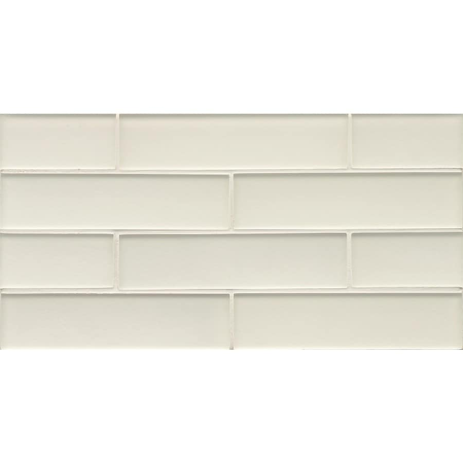 Bedrosians Manhattan Pearl Brick Mosaic Subway Wall Tile Common 8 In X 16