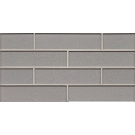 Bedrosians Manhattan Platinum Brick Mosaic Gl Subway Tile Common 8 In X 16