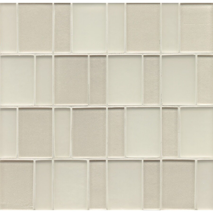 Shop bedrosians 12 in x 12 in manhattan pearl glass mosaic subway bedrosians 12 in x 12 in manhattan pearl glass mosaic subway wall tile dailygadgetfo Image collections
