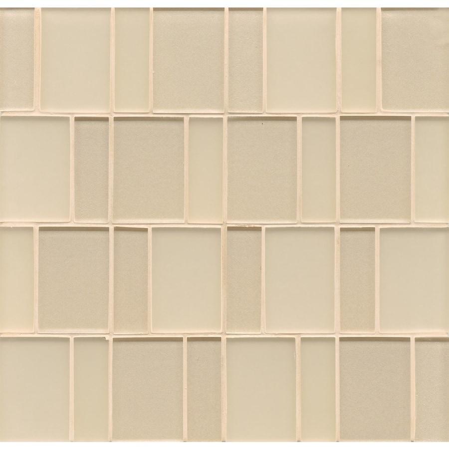 Shop Bedrosians Manhattan 10 Pack Cashmere Glass Subway Wall Tile