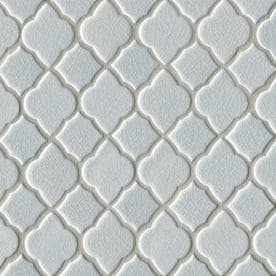 Bedrosians Gallerie Grey 11-in x 11-in Ceramic Lantern Mosaic Deco Wall Tile (Common: 11-in x 11-in; Actual: 10.44-in x 10.44-in)
