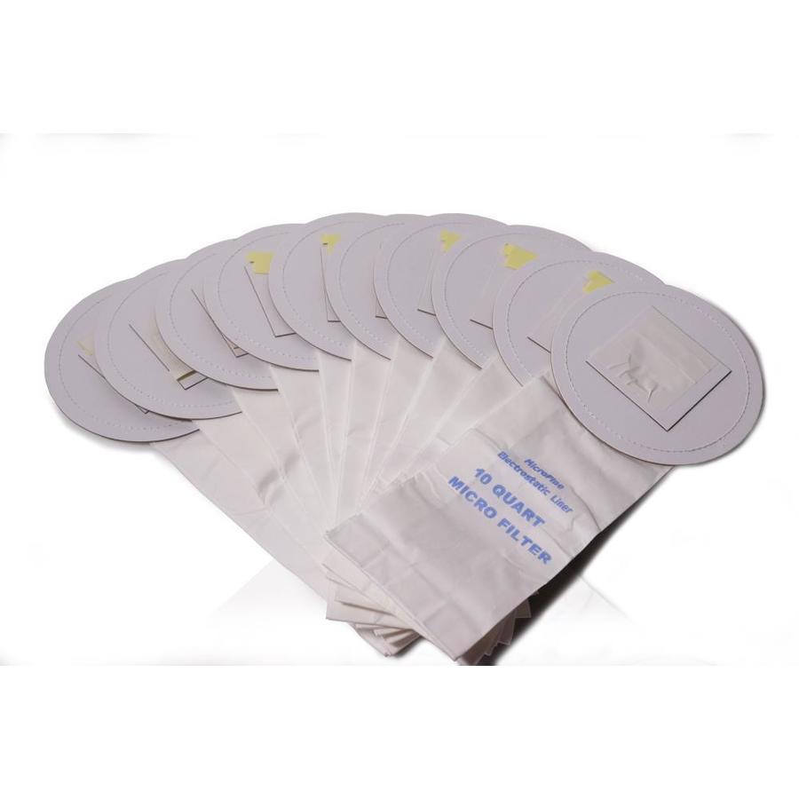 Gv 10 Pack 9 4 Liter Disposable Paper Vacuum Bag At Lowes Com