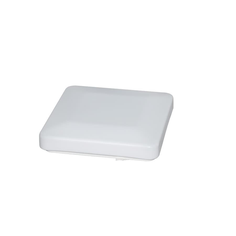 Utilitech 14.34-in W White Ceiling Flush Mount Light