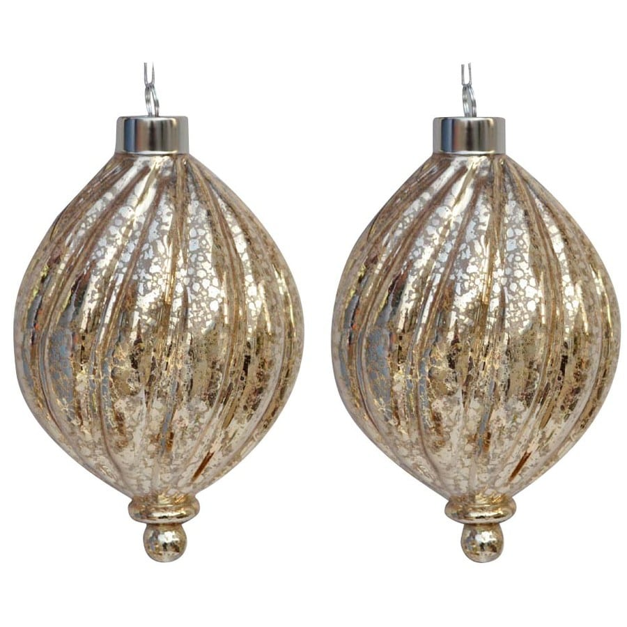 allen + roth Gold Ornament Set Lights