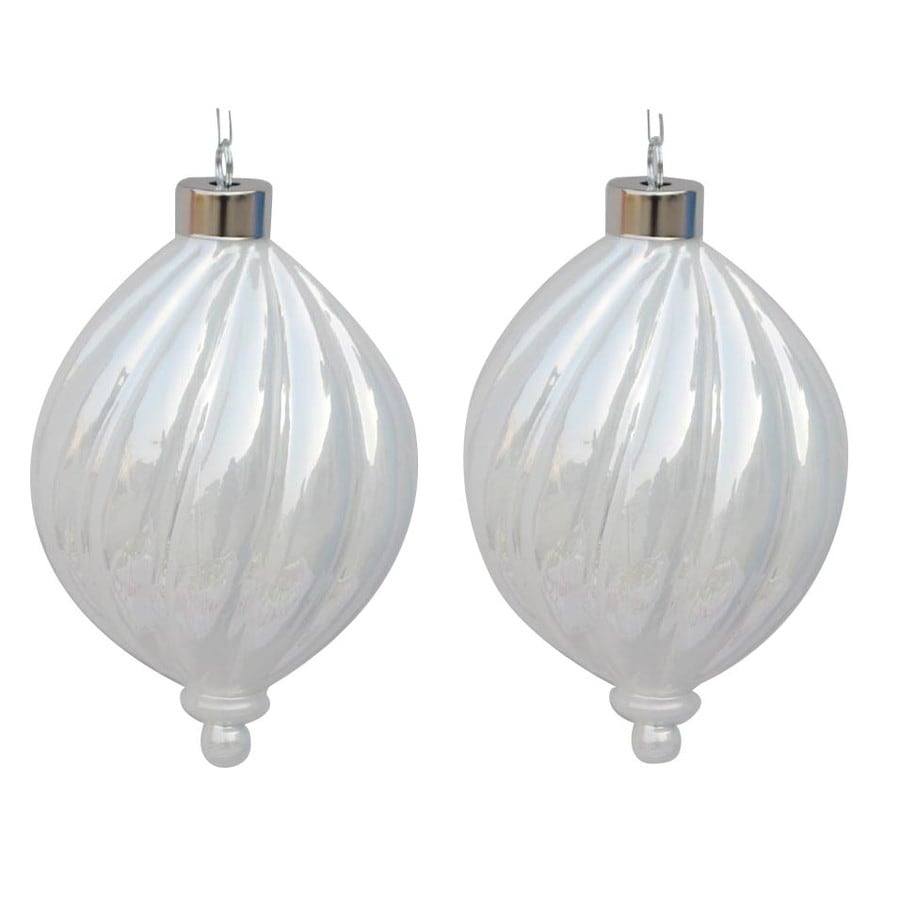 allen + roth White Ornament Set Lights