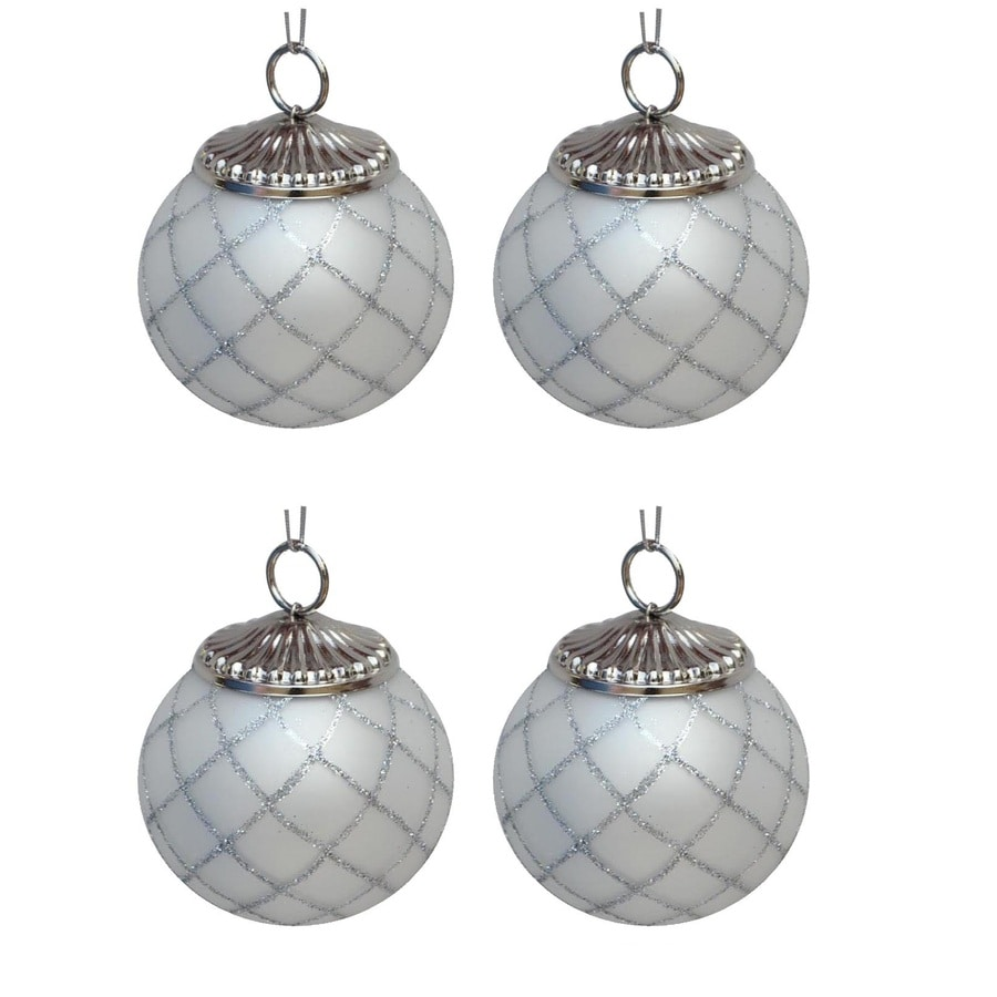allen + roth White/Silver Ornament Set Lights