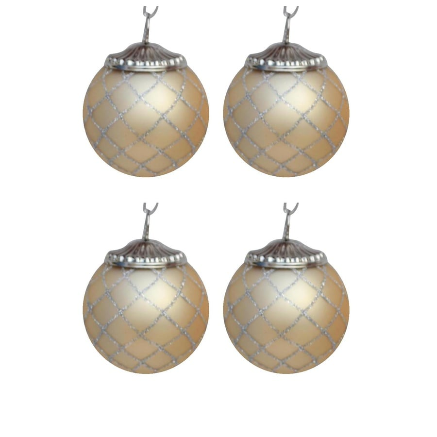 allen + roth Gold/Silver Ornament Set Lights