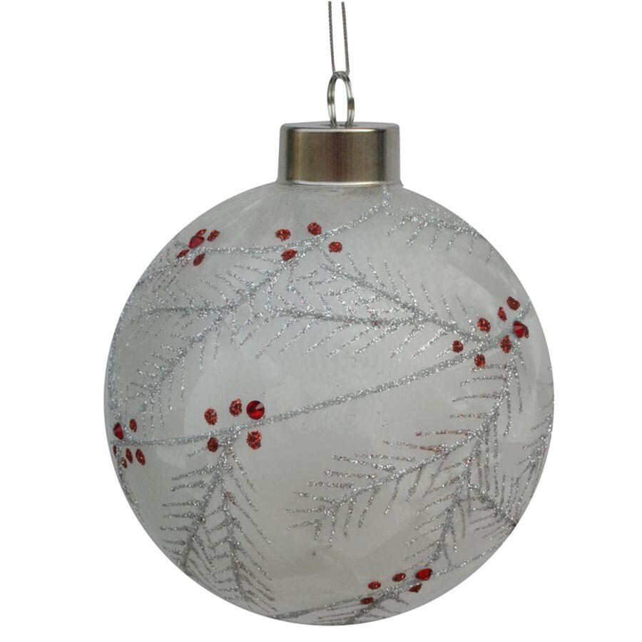 allen + roth White/Silver/Red Ornament Set