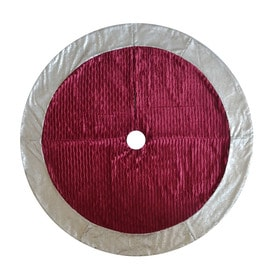 holiday living 56 in red polyester traditional christmas tree skirt - Pink Christmas Tree Skirt