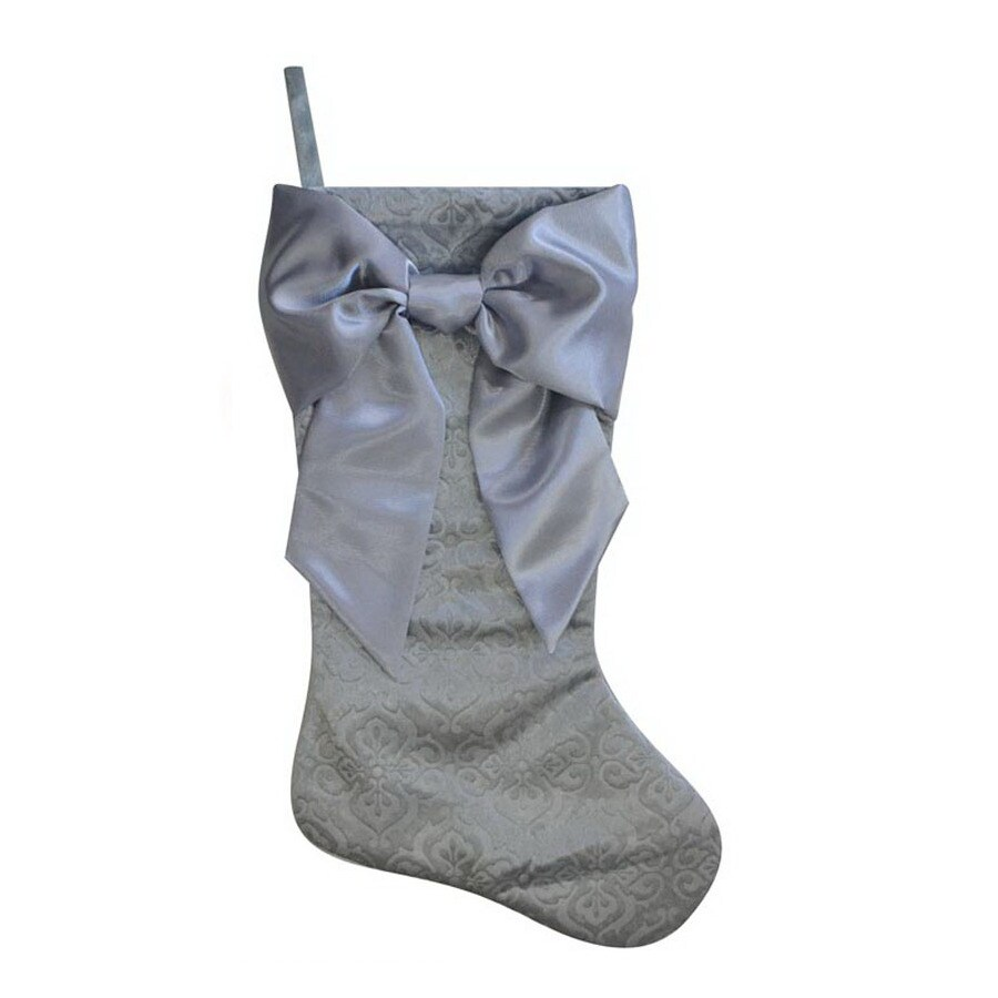 Holiday Living 21-in Silver Traditional Christmas Stocking