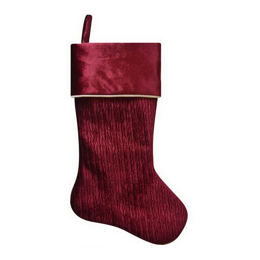 Holiday Living 21-in Red Traditional Christmas Stocking