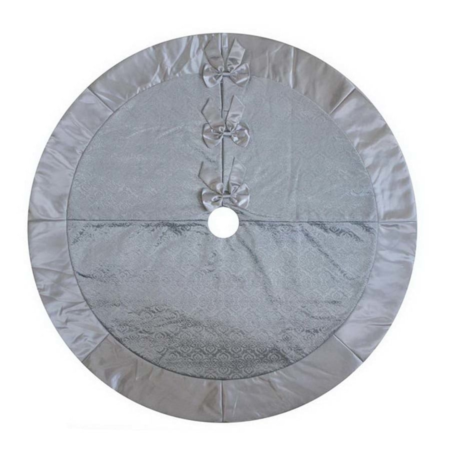 Holiday Living 56-in Silver Polyester Traditional Christmas Tree Skirt