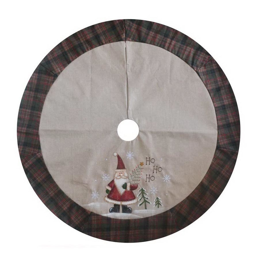 Holiday Living 48-in Multiple Colors/Finishes Polyester Traditional Christmas Tree Skirt