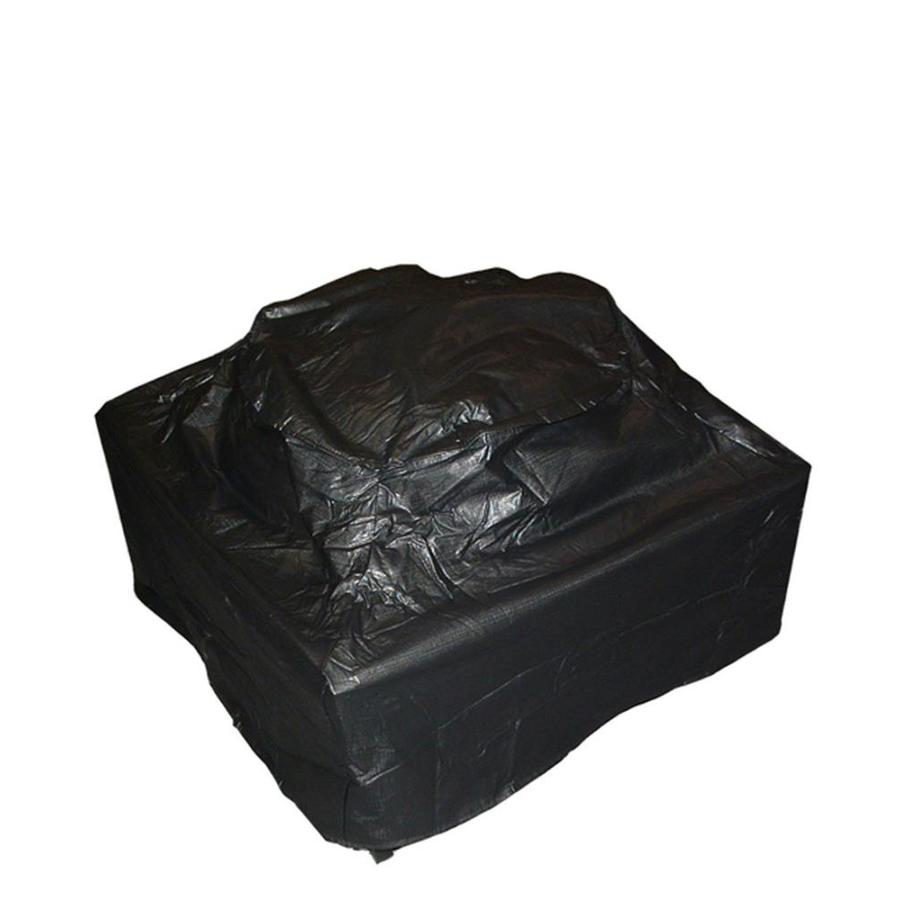 Fire Sense 38-in Black Square Firepit Cover
