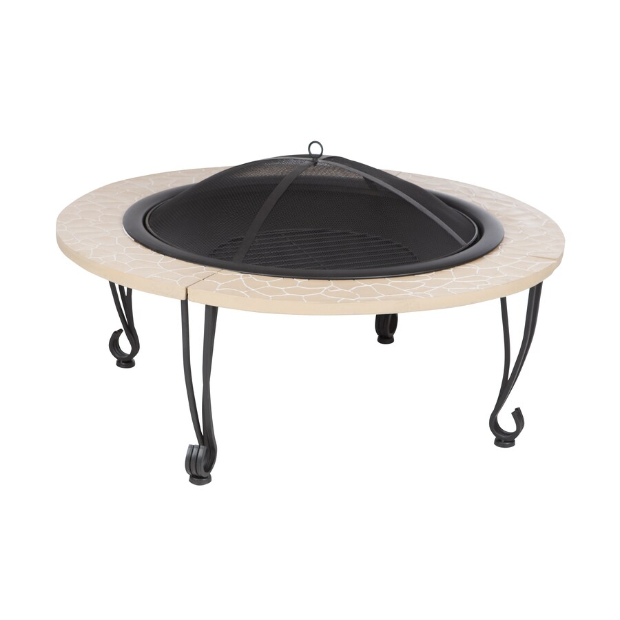 Fire Sense 39.01-in W Black Steel Wood-Burning Fire Pit