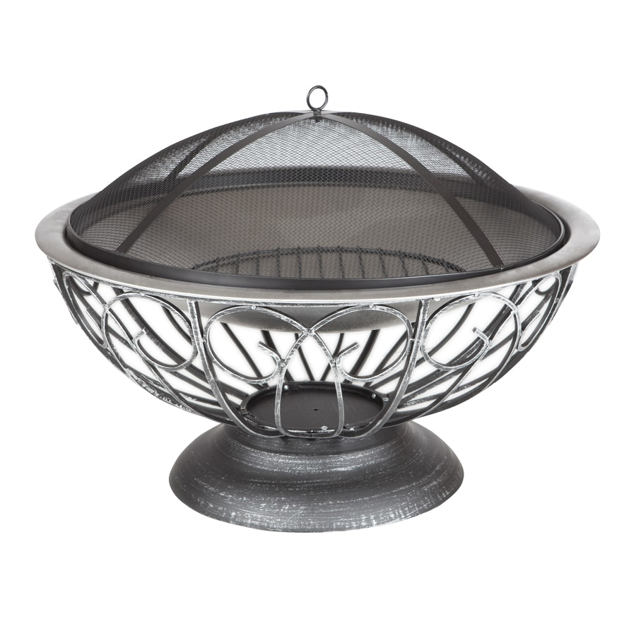 Fire Sense 29.16-in W Black Steel Wood-Burning Fire Pit