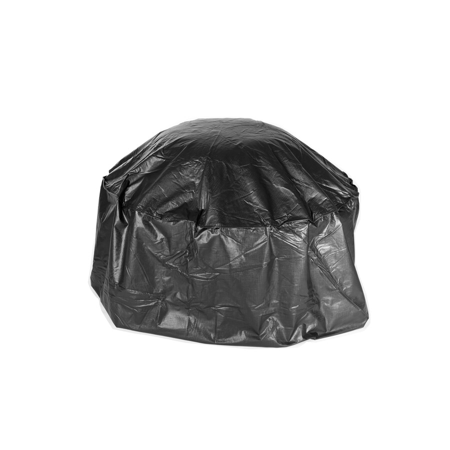 fire sense 42in black round firepit cover