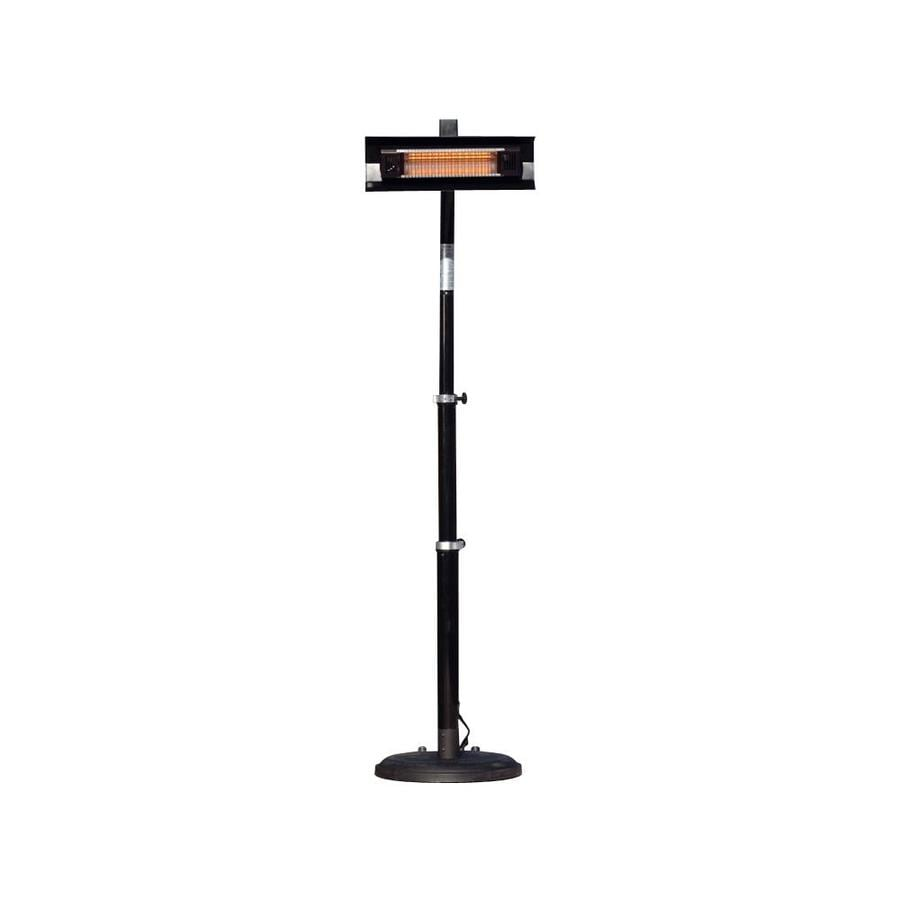 Well Traveled Living 5,118-BTU 110-Volt Black Steel Electric Patio Heater