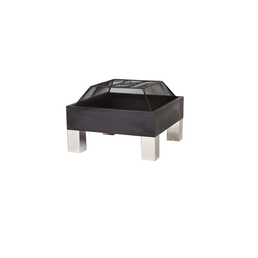 Fire Sense 26-in W Black Steel Wood-Burning Fire Pit