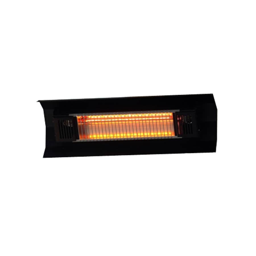 Well Traveled Living 5,118-Amp 110-Volts Black Steel Electric Patio Heater