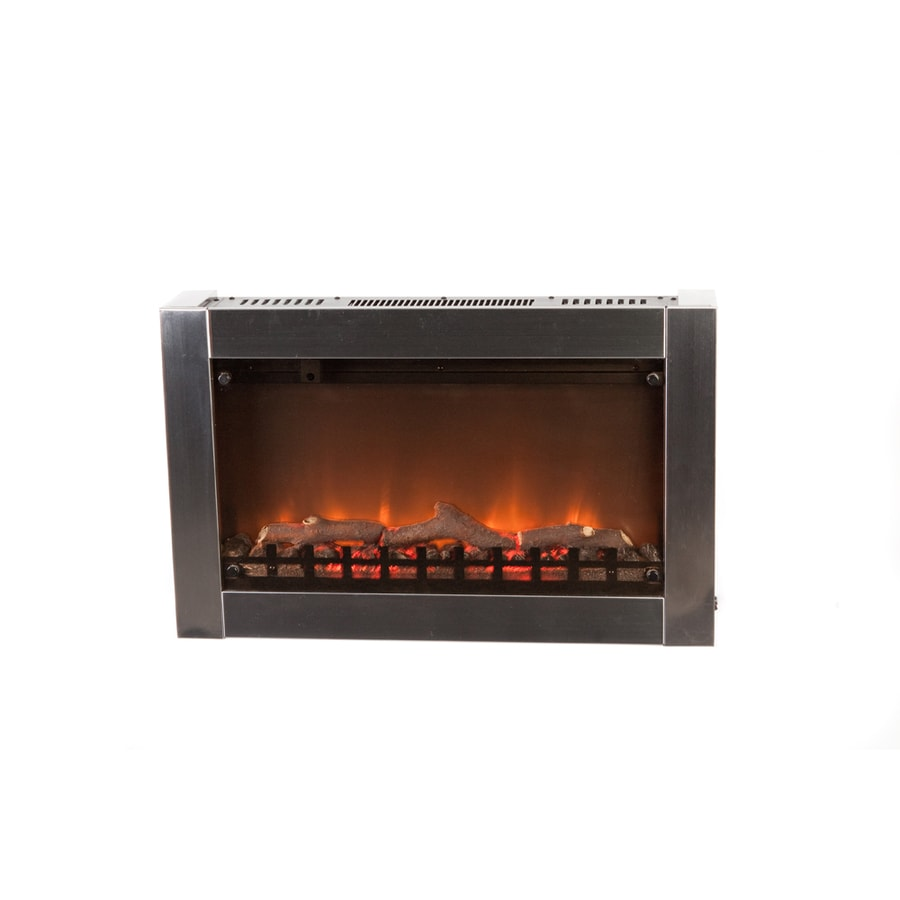 Fire Sense 31-in Silver Wall-Mount Electric Fireplace