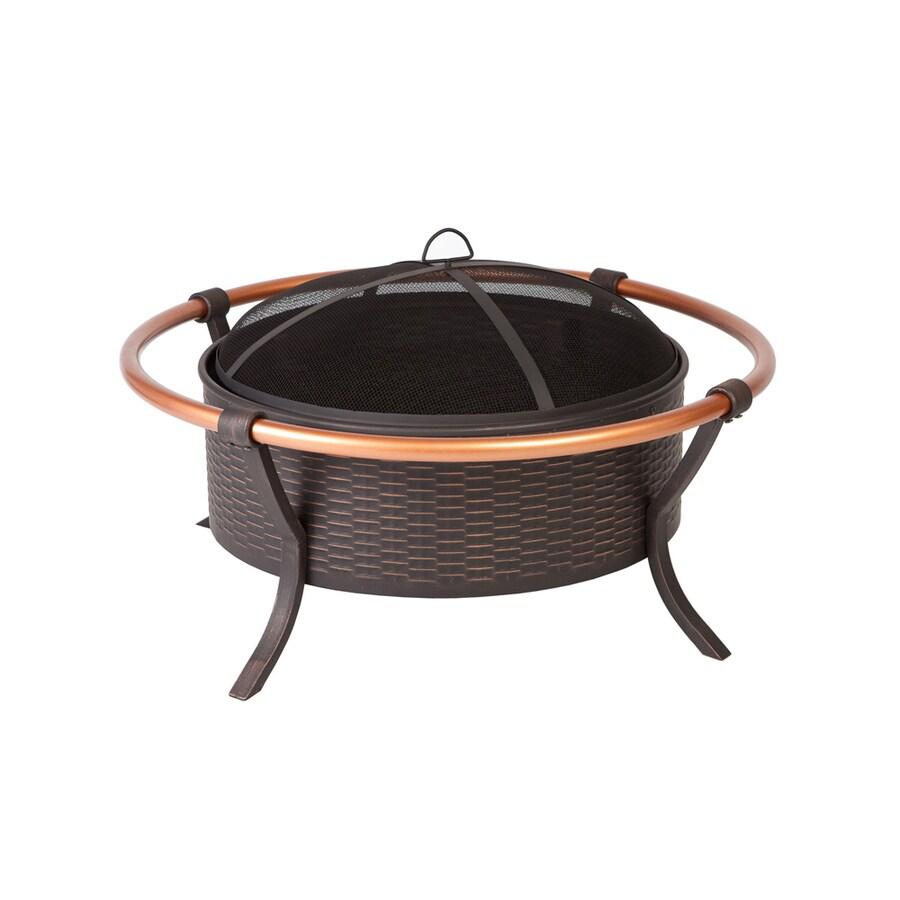 Fire Sense 37.4-in W Bronze Steel Wood-Burning Fire Pit