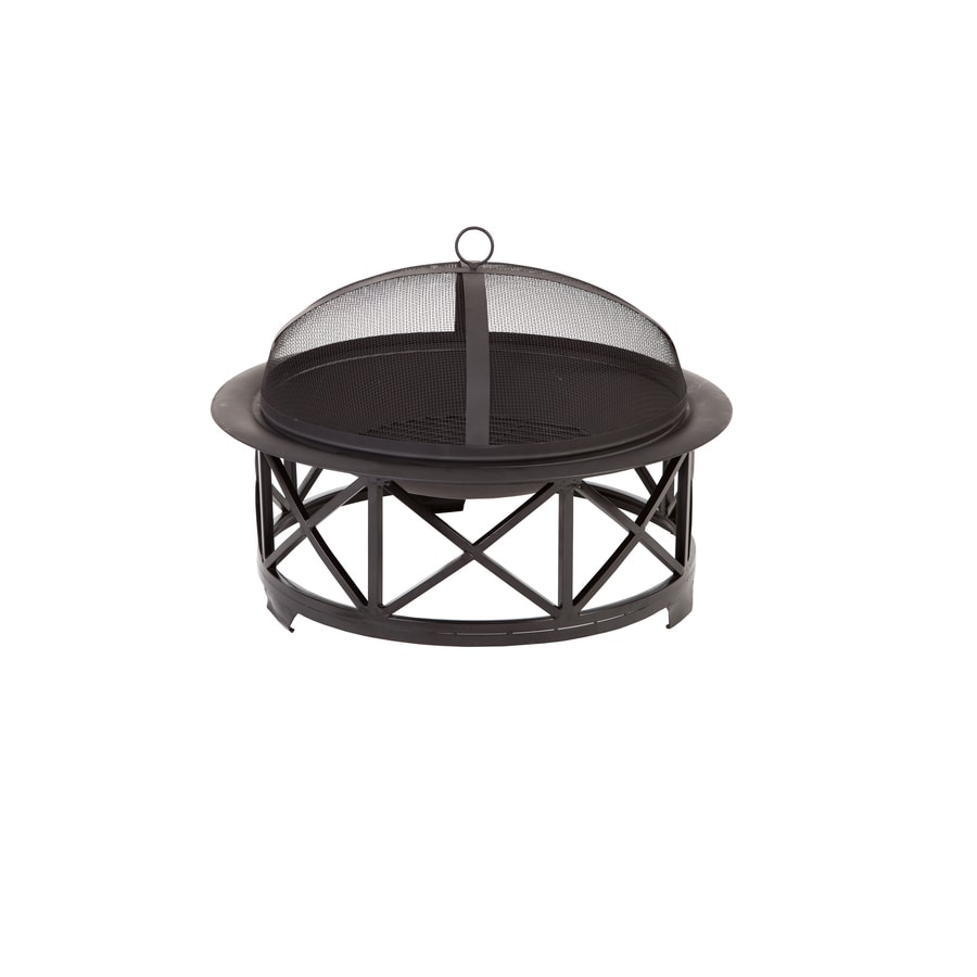 Fire Sense 30-in W Black Steel Wood-Burning Fire Pit