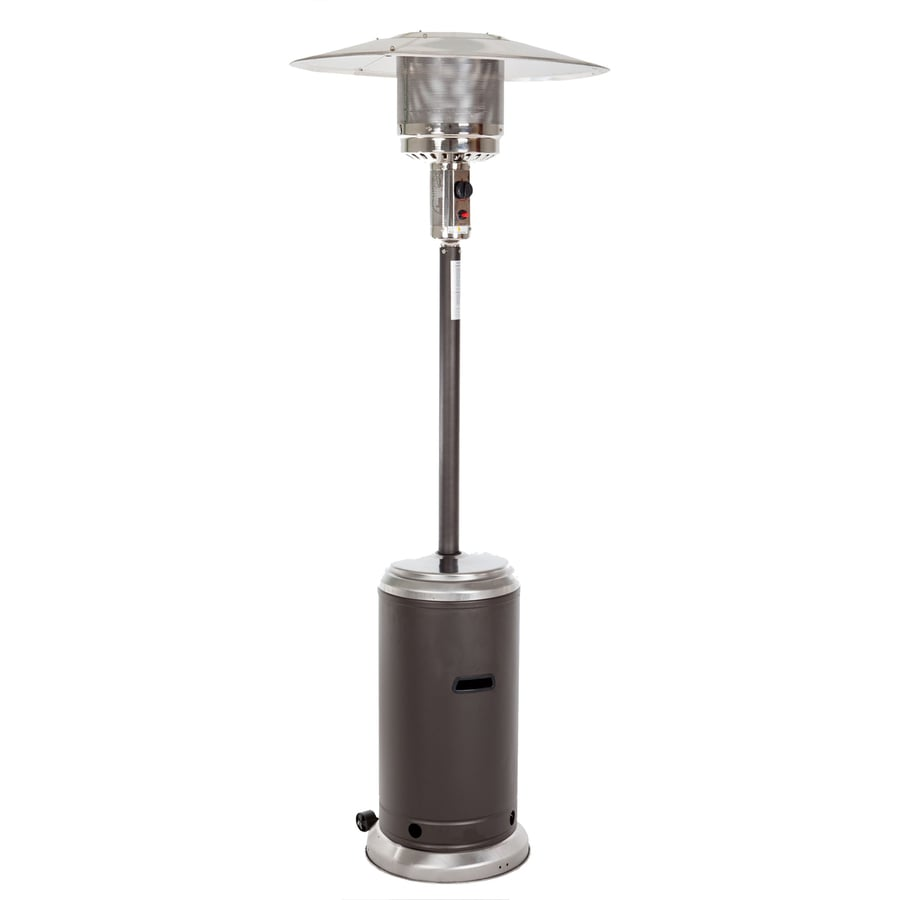 Fire Sense 44,000-BTU Mocha Steel Floorstanding Liquid Propane Patio Heater
