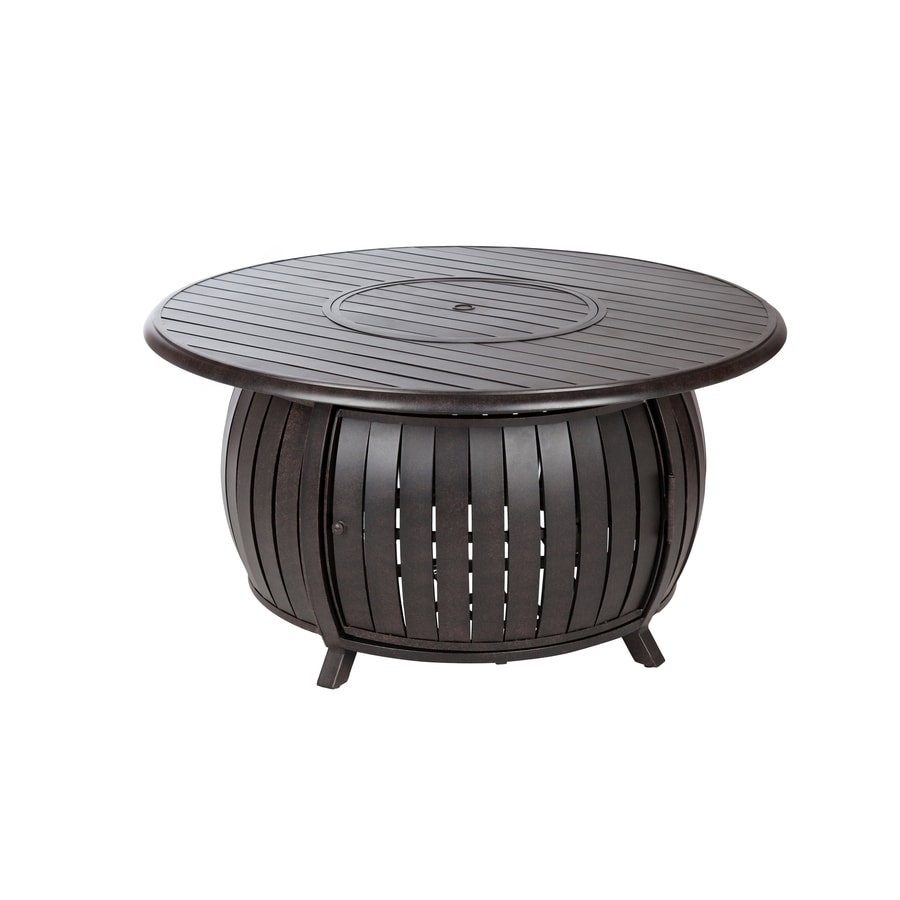 Shop gas fire pits at lowes fire sense 47 in w 40000 btu bronze portable aluminum liquid propane fire pit geotapseo Image collections