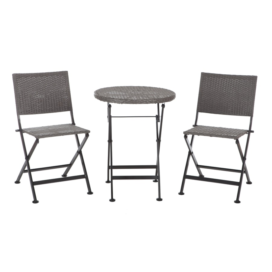 Patio Sense 3-Piece Mocha Resin Bistro Patio Dining Set